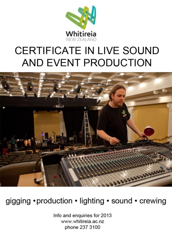 If you want to work at events or gigs as part of the sound crew, call us to discuss the course which starts now.